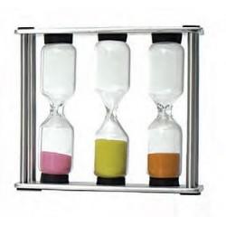 Tee-Uhr aus Edelstahl mit 3 Ziehzeiten