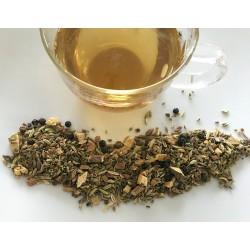 Dedication - für schlaue Füchse Tee (Mithi Chai - Teegewürzmischung) zubereitet in einer Teetasse