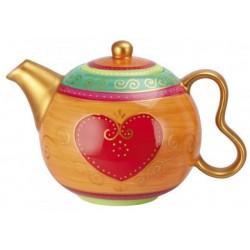 Teekanne mit Herz (0,9 Liter)
