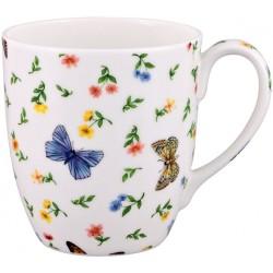 Teebecher mit Schmetterlingen mit 300 ml Fassungsvermögen aus Fine Bone China Porzellan