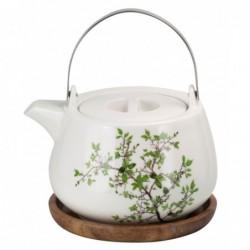 Teekanne Natura mit Holzuntersetzer