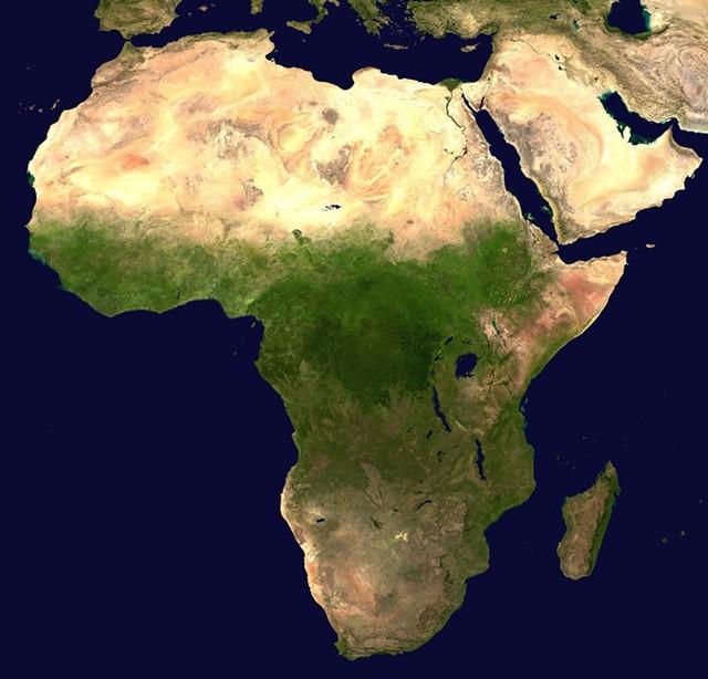 Satelitenbilder des Kontinents Afrika